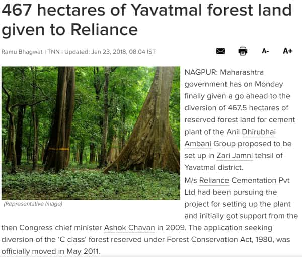 Reliance-Yavatmal-Forest